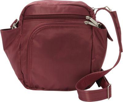 BeSafe by DayMakers RFID Smart Traveler 10 LX Shoulder Bag Wine - BeSafe by DayMakers Fabric Handbags