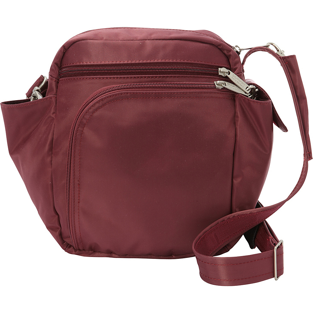 BeSafe by DayMakers RFID Smart Traveler 10 LX Shoulder Bag Wine BeSafe by DayMakers Fabric Handbags