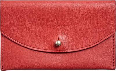 Skagen Flap Card Case Red - Skagen Women's Wallets