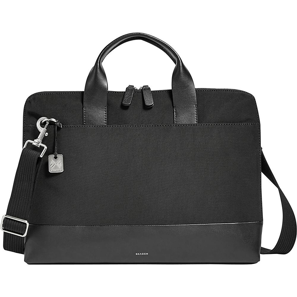 Skagen Peder Slim Nylon Briefcase Black - Skagen Non-Wheeled Business Cases