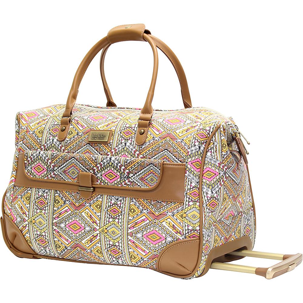 Nicole Miller NY Luggage Sedona Wheeled City Bag Yellow - Nicole Miller NY Luggage Softside Carry-On