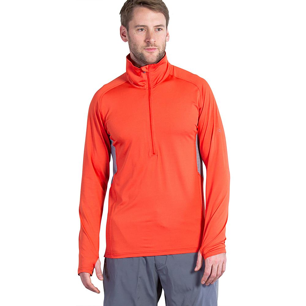 ExOfficio Mens Sol Cool Long Sleeve Half Zip L - Fire Opal - ExOfficio Mens Apparel - Apparel & Footwear, Men's Apparel