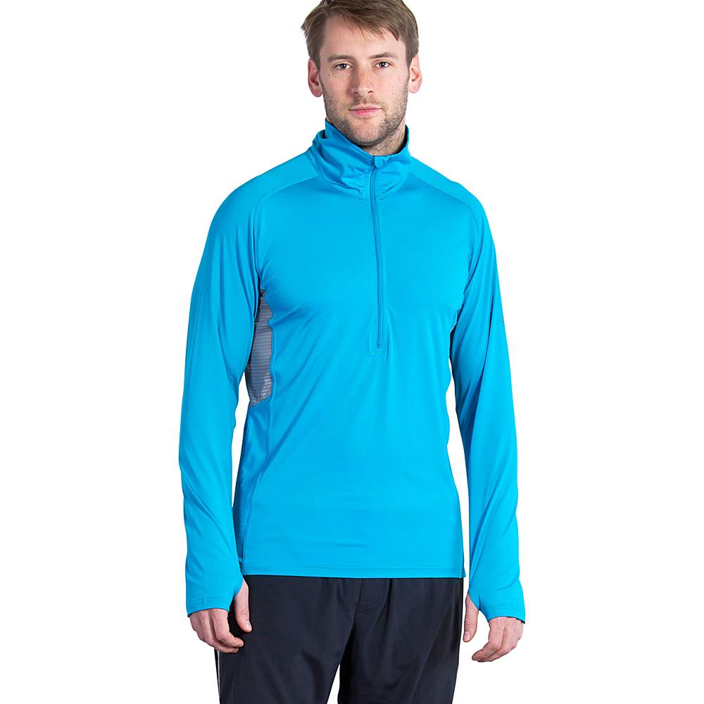 ExOfficio Mens Sol Cool Long Sleeve Half Zip M - Deep Sea - ExOfficio Mens Apparel - Apparel & Footwear, Men's Apparel