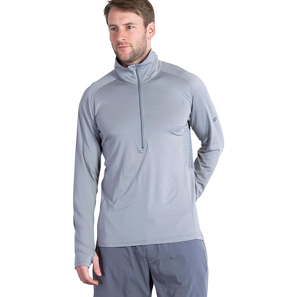ExOfficio Mens Sol Cool Long Sleeve Half Zip L - Cement - ExOfficio Mens Apparel - Apparel & Footwear, Men's Apparel