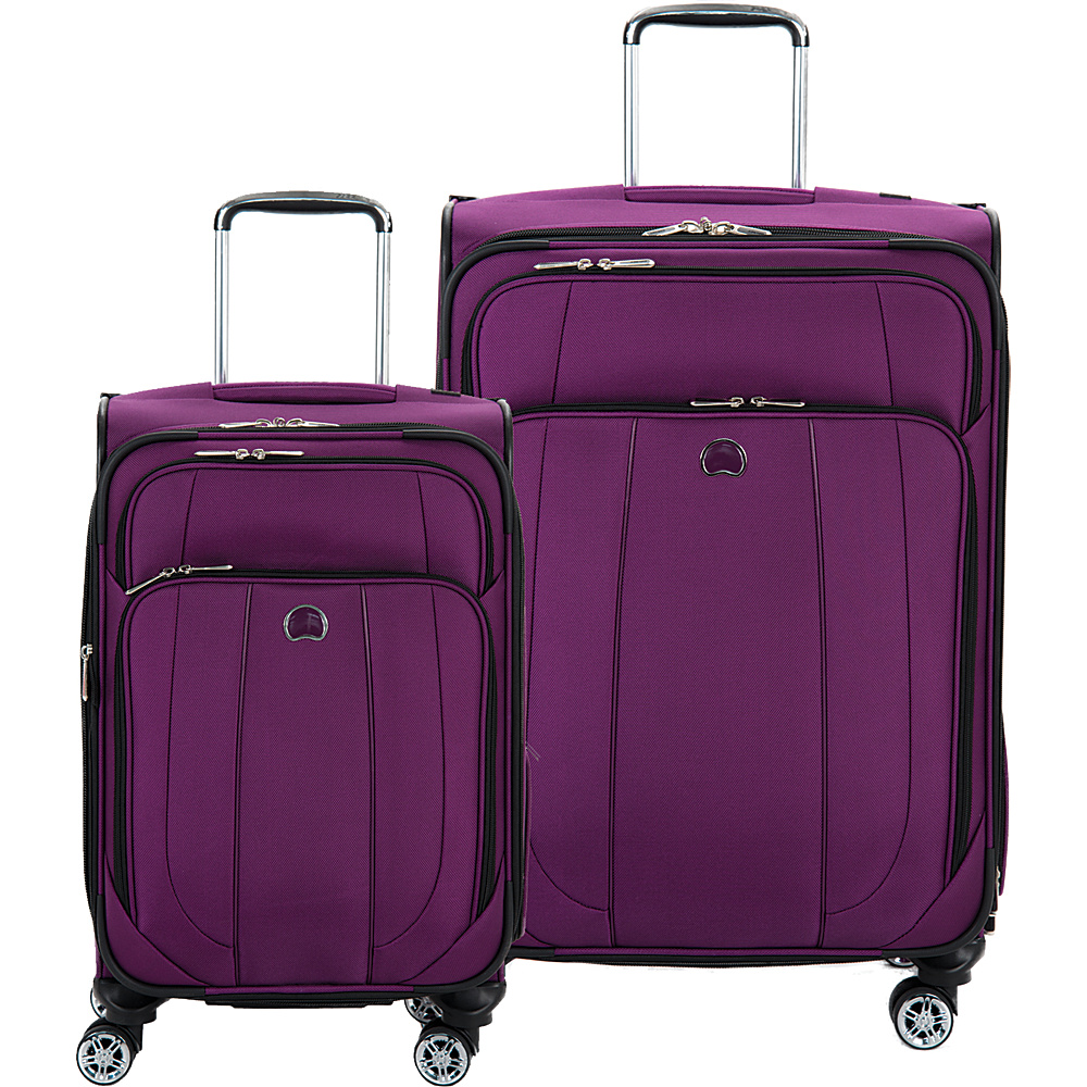Delsey Helium Cruise 21 and 25 Spinner Luggage Set Purple Delsey Luggage Sets