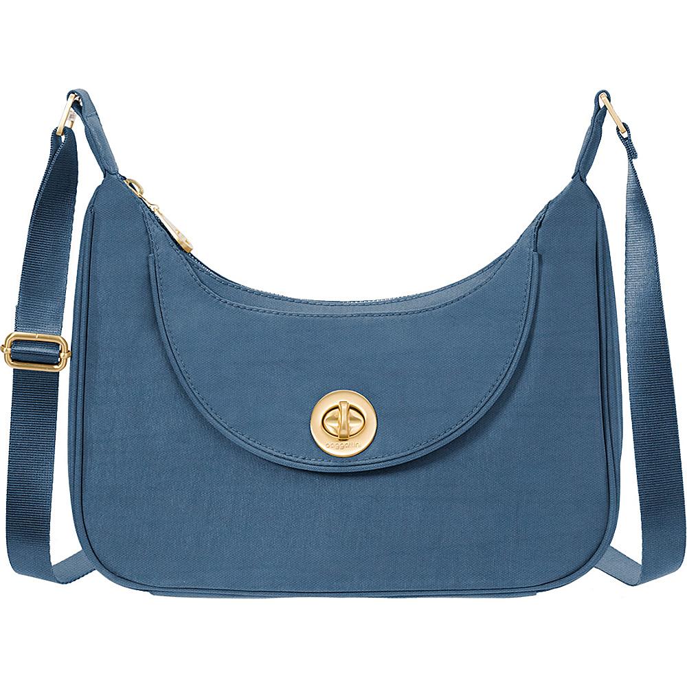 baggallini Oslo Small Hobo Slate Blue - baggallini Fabric Handbags - Handbags, Fabric Handbags