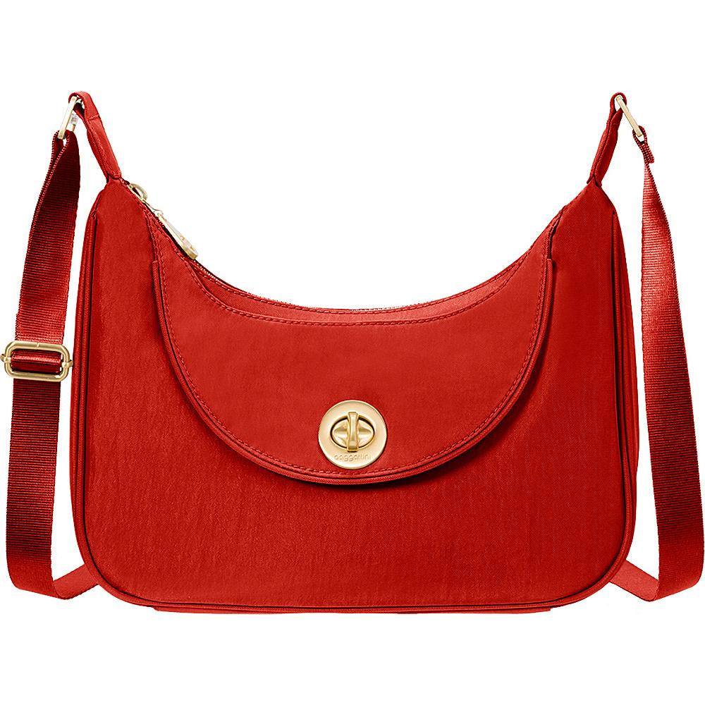 baggallini Oslo Small Hobo Poppy Red - baggallini Fabric Handbags - Handbags, Fabric Handbags