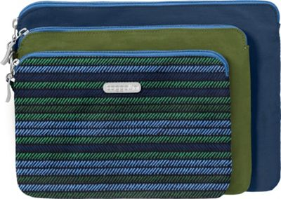 Image of baggallini 3 Pouch Travel Set Moss Stripe Multi - baggallini Women's SLG Other