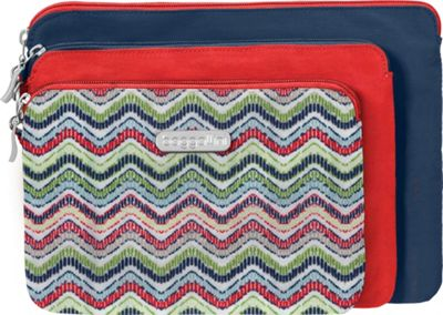 Image of baggallini 3 Pouch Travel Set Wave Print Multi - baggallini Women's SLG Other
