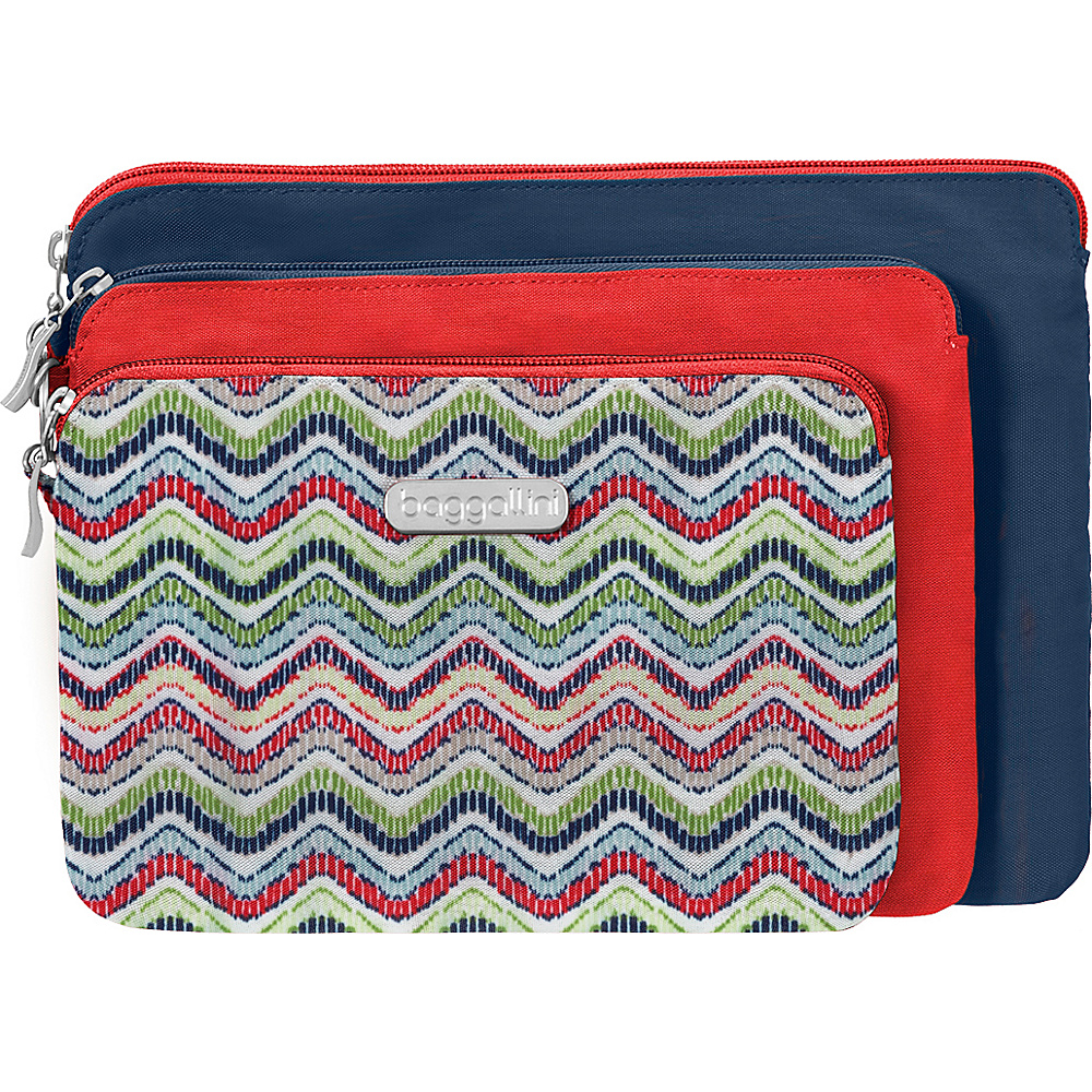 baggallini 3 Pouch Travel Set Wave Print Multi - baggallini Womens SLG Other - Women's SLG, Women's SLG Other