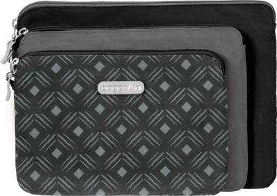 Image of baggallini 3 Pouch Travel Set Black Diamond Print Multi - baggallini Women's SLG Other
