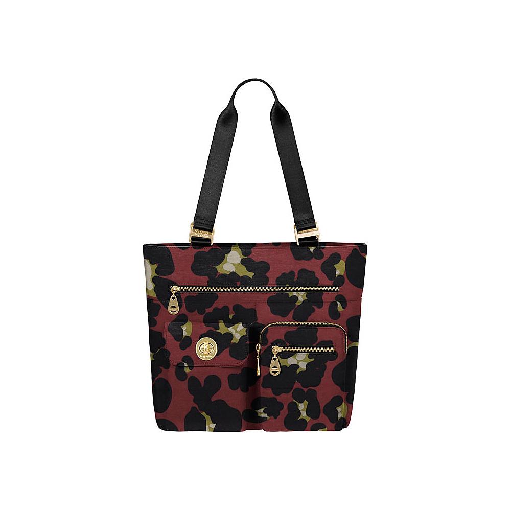 baggallini Tulum Tote - Retired Colors Scarlet Cheetah - baggallini Fabric Handbags