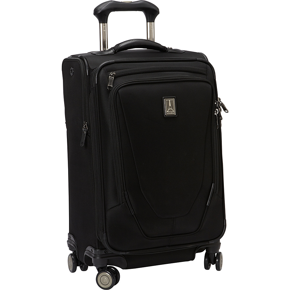 """Travelpro Crew 11 21"""" Expandable Spinner Black - Travelpro Softside Carry-On"""