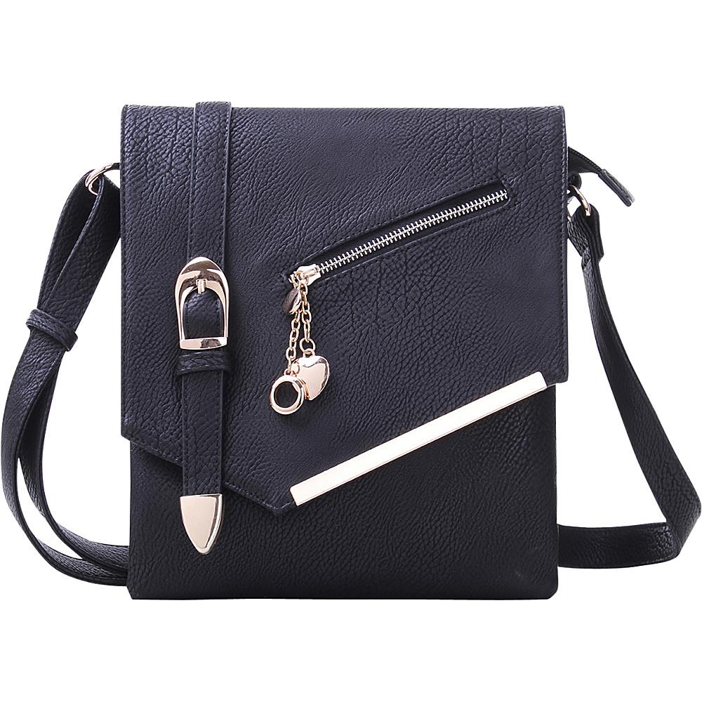 MKF Collection by Mia K. Farrow Jasmine Cross-Body Shoulder Bag Black - MKF Collection by Mia K. Farrow Manmade Handbags - Handbags, Manmade Handbags