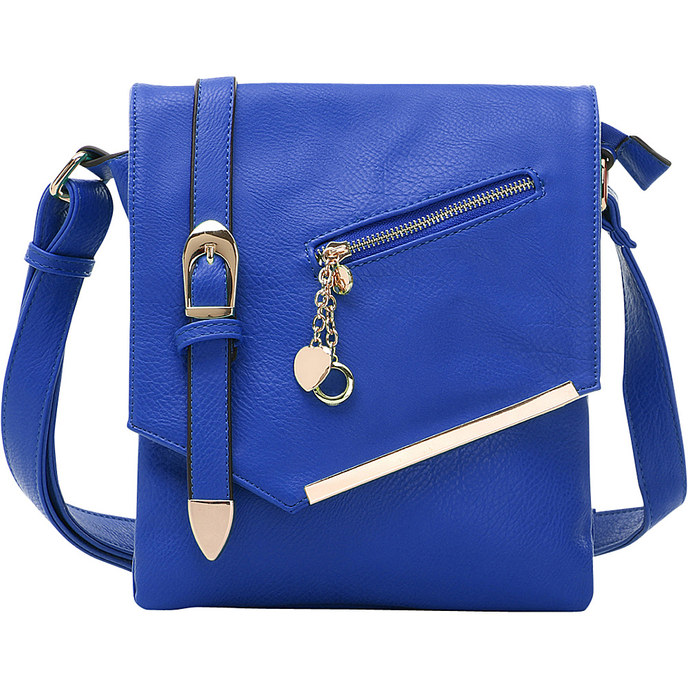 MKF Collection by Mia K. Farrow Jasmine Cross-Body Shoulder Bag Blue - MKF Collection by Mia K. Farrow Manmade Handbags - Handbags, Manmade Handbags