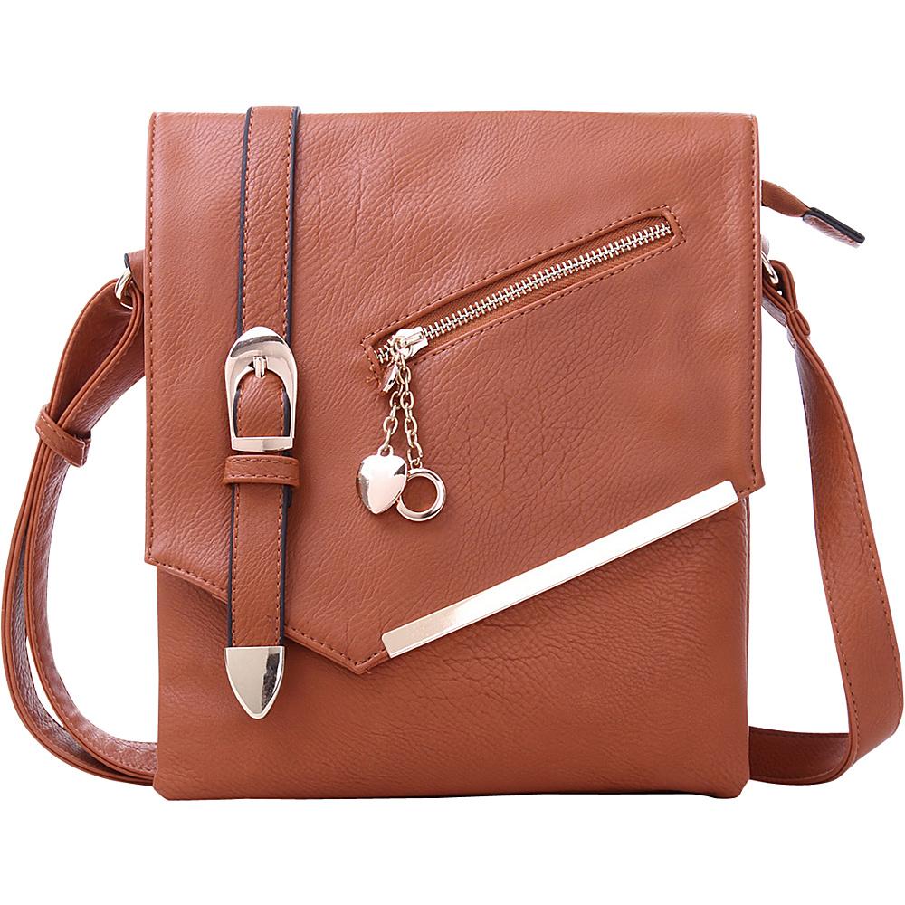 MKF Collection by Mia K. Farrow Jasmine Cross-Body Shoulder Bag Brown - MKF Collection by Mia K. Farrow Manmade Handbags - Handbags, Manmade Handbags
