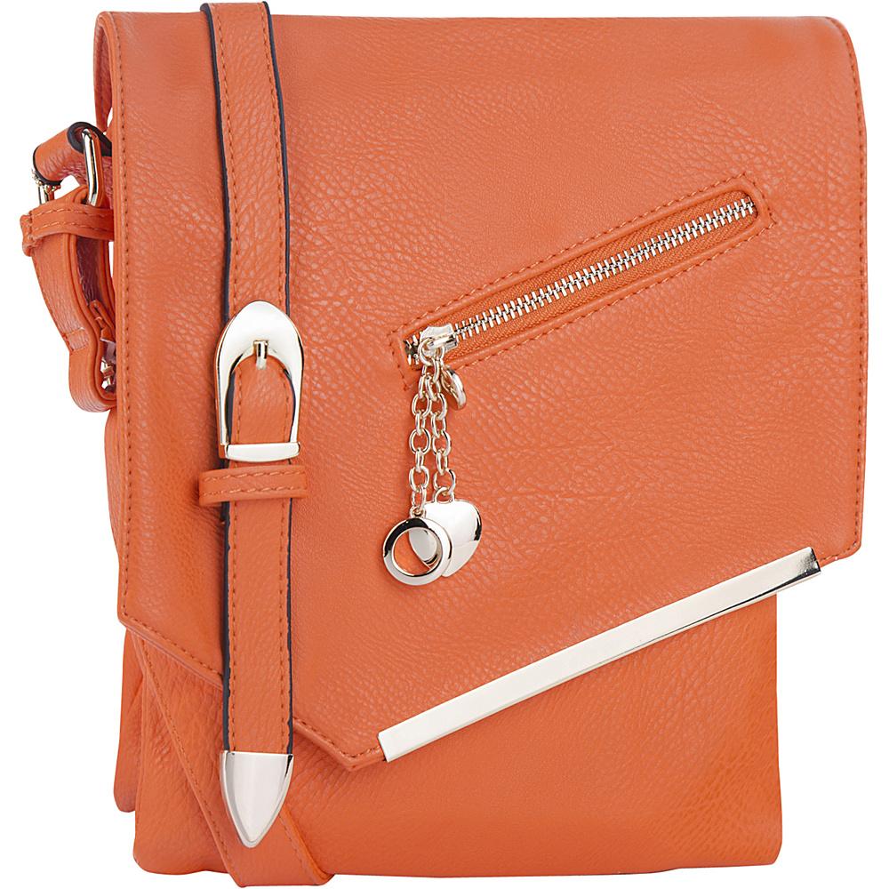 MKF Collection by Mia K. Farrow Jasmine Cross-Body Shoulder Bag Orange - MKF Collection by Mia K. Farrow Manmade Handbags - Handbags, Manmade Handbags
