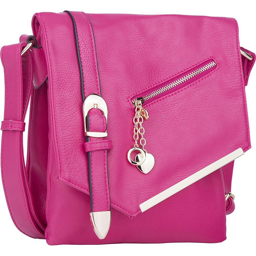 MKF Collection Jasmine Cross-Body Shoulder Bag Pink - MKF Collection Manmade Handbags - Handbags, Manmade Handbags