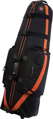 Golf Travel Bags LLC Medallion 6.0 Black/Tangerine - Golf Travel Bags LLC Golf Bags