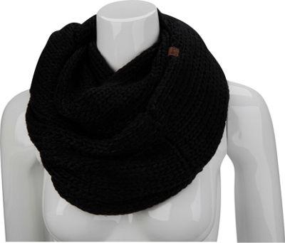 Keds Lurex Knit Infinity Scarf Black - Keds Scarves