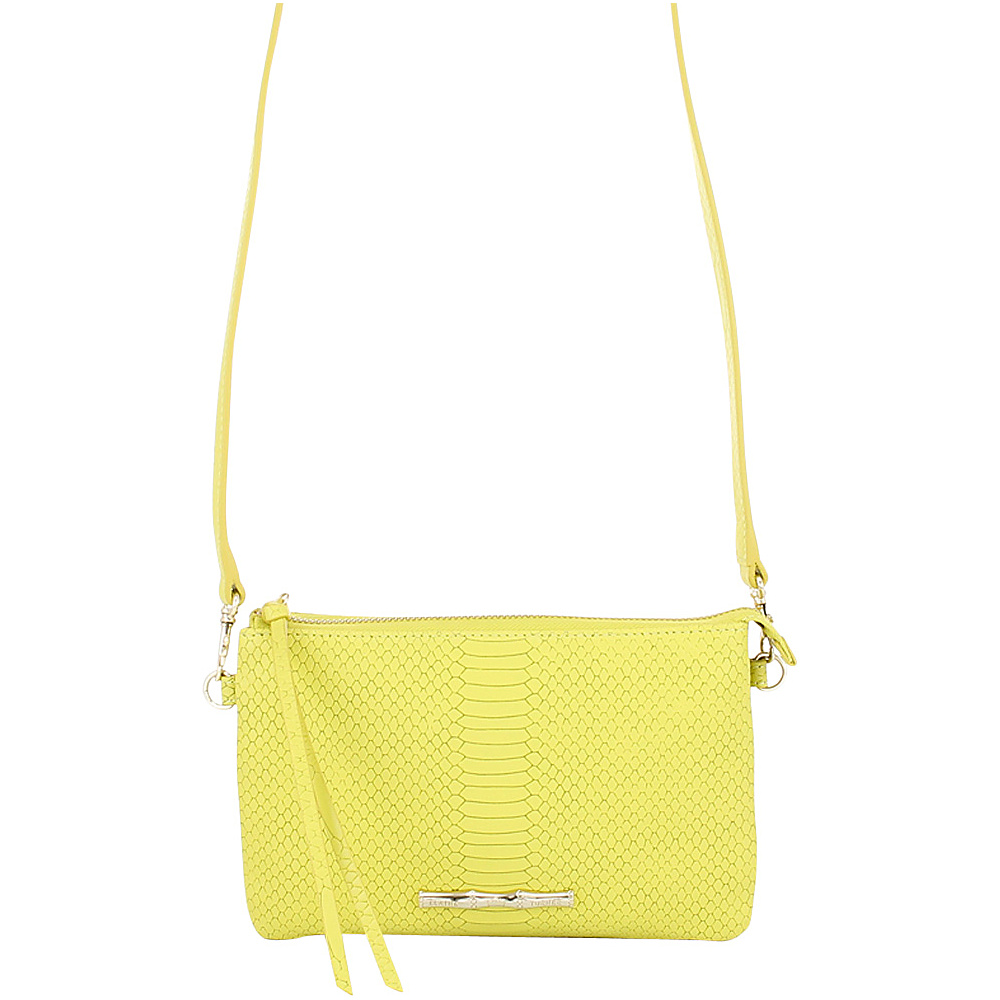 Elaine Turner Frankie Snake Crossbody Citrine Elaine Turner Designer Handbags