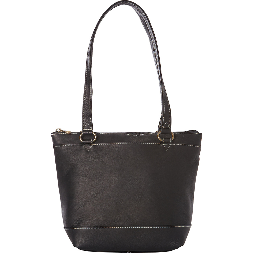 Le Donne Leather Flora Tote Black - Le Donne Leather Leather Handbags - Handbags, Leather Handbags