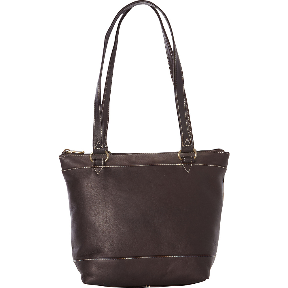 Le Donne Leather Flora Tote Cafe - Le Donne Leather Leather Handbags - Handbags, Leather Handbags