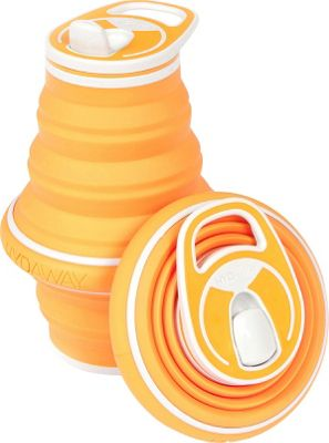 Hydaway Collapsible Water Bottle-21 oz. Tangerine - Hydaway Hydration Packs and Bottles