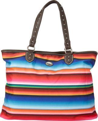 Montana West Serape Tote Multi 1 - Montana West Fabric Handbags