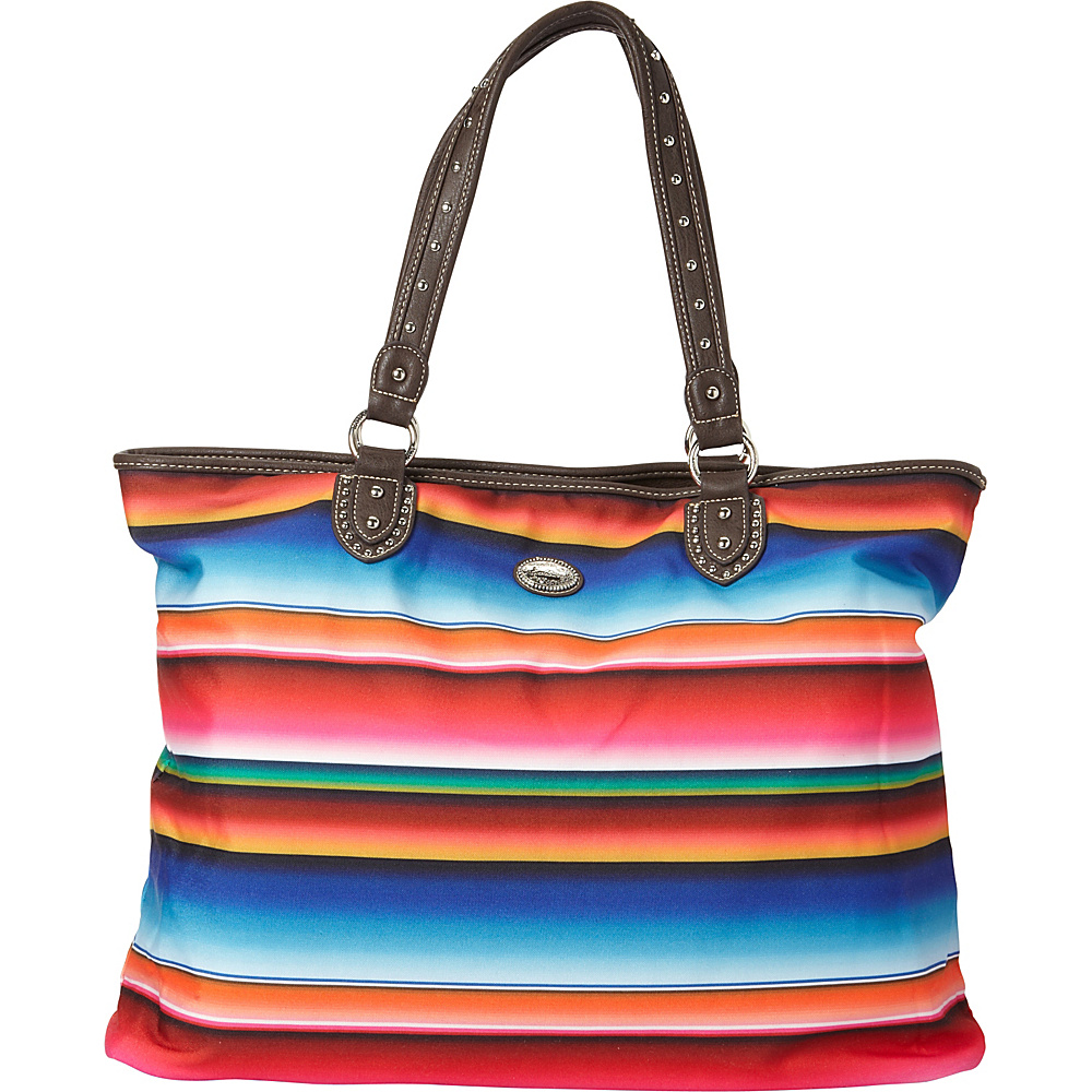 Montana West Serape Tote Multi 1 Montana West Fabric Handbags