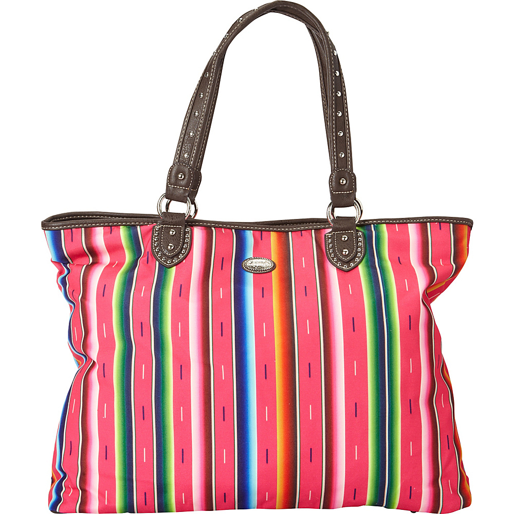 Montana West Serape Tote Pink Montana West Fabric Handbags