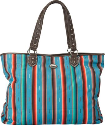 Montana West Serape Tote Turquoise - Montana West Fabric Handbags