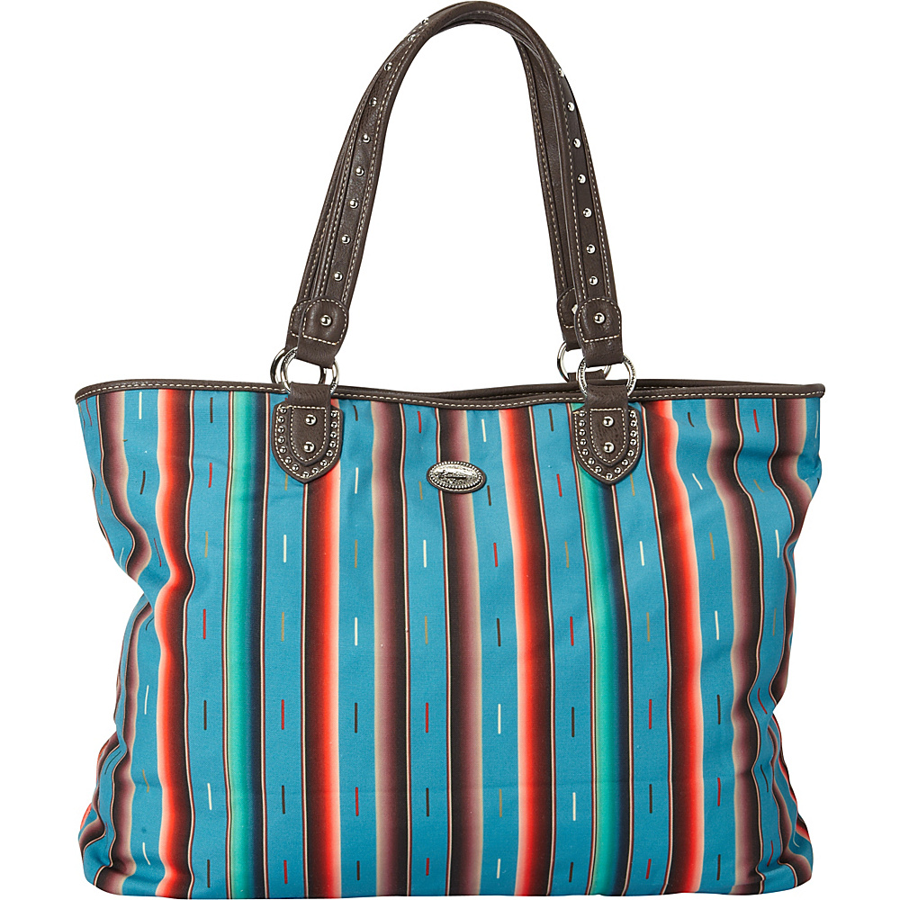 Montana West Serape Tote Turquoise Montana West Fabric Handbags