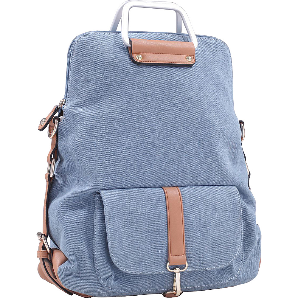 MKF Collection Back To School Denim Backpack Light Blue - MKF Collection Everyday Backpacks - Backpacks, Everyday Backpacks