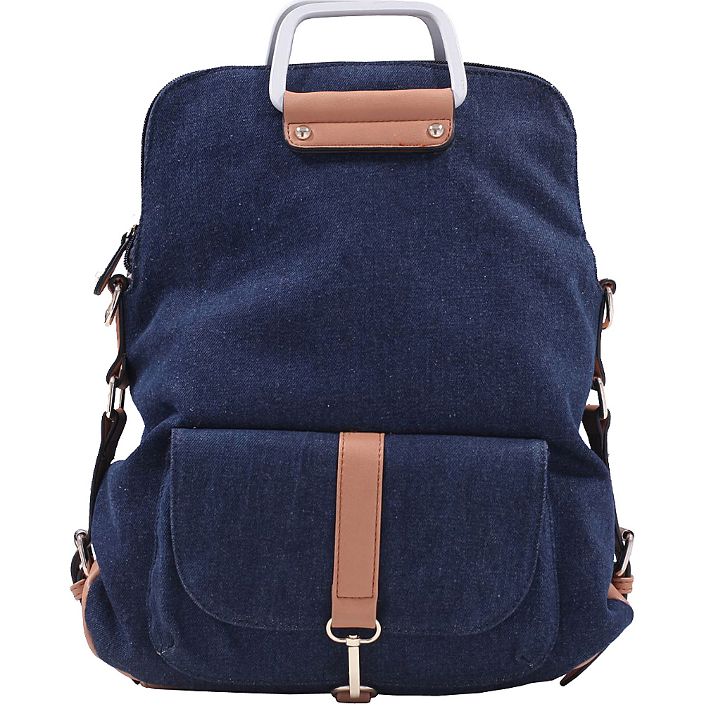 MKF Collection by Mia K. Farrow Back To School Denim Backpack Navy - MKF Collection by Mia K. Farrow Everyday Backpacks - Backpacks, Everyday Backpacks