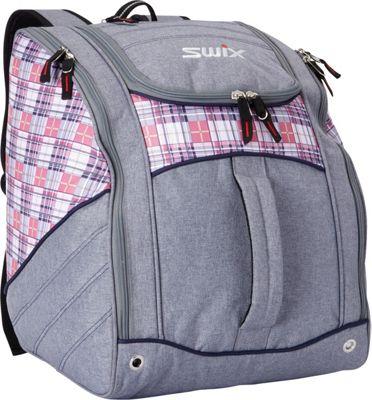 Swix Seton Low Pro Tripack Ski Boot Bag Seton Pink Plaid - Swix Ski and Snowboard Bags