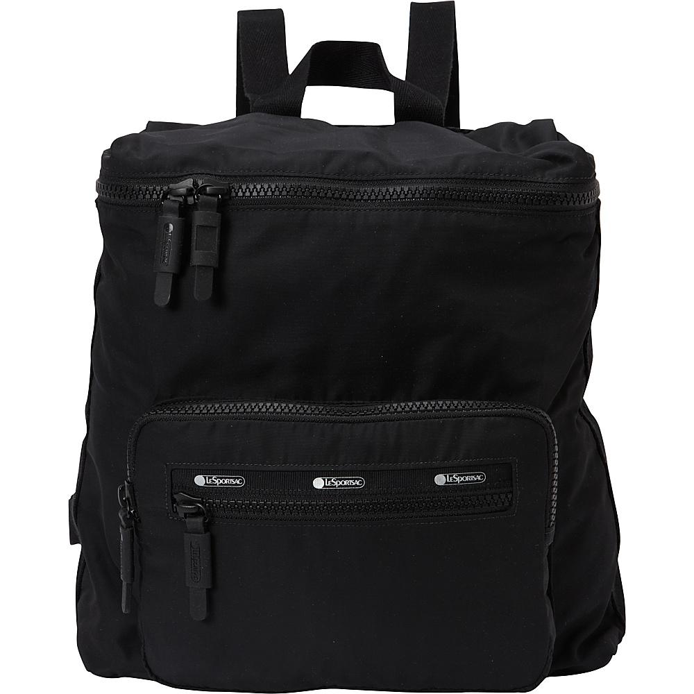 LeSportsac Travel Portable Backpack True Black T LeSportsac Fabric Handbags