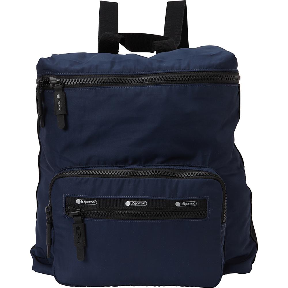 LeSportsac Travel Portable Backpack Classic Navy T LeSportsac Fabric Handbags