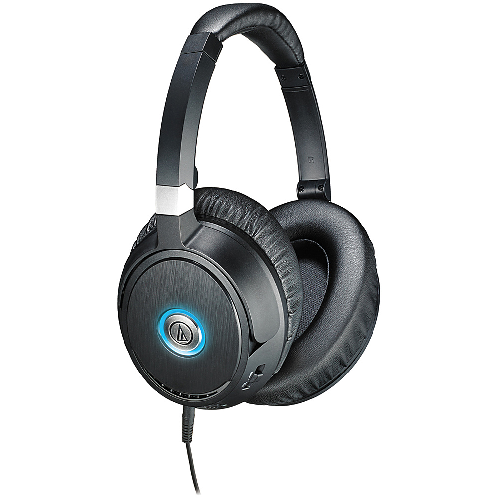 Audio Technica ATH ANC70 QuietPoint Active Noise Cancelling Headphones Black Audio Technica Headphones Speakers