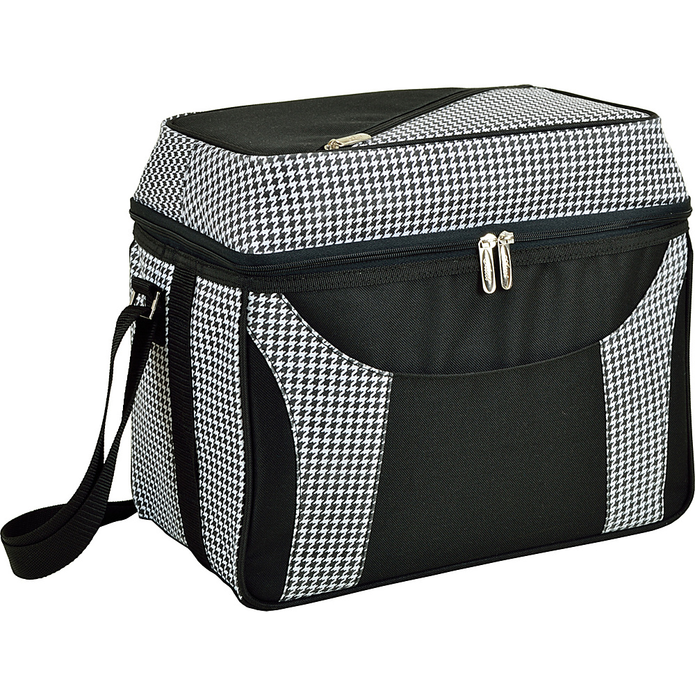 Picnic at Ascot Collapsible 36 Can Cooler with Two Levels Houndstooth - Picnic at Ascot Outdoor Coolers - Outdoor, Outdoor Coolers