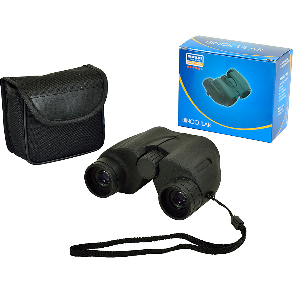 Picnic at Ascot Compact 6 x 22mm Binoculars,  Optics 140/1000 Black - Picnic at Ascot Binoculars, Telescopes & Optics - Technology, Binoculars, Telescopes & Optics