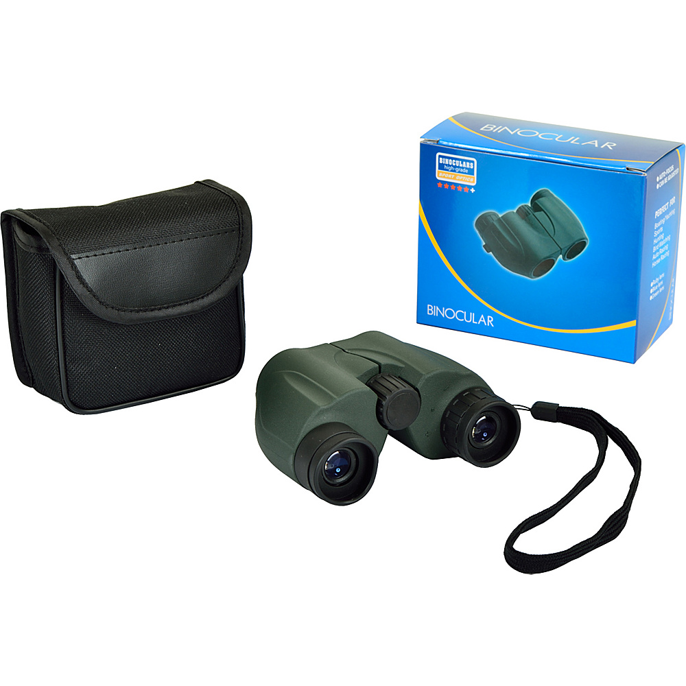Picnic at Ascot Compact 6 x 22mm Binoculars,  Optics 140/1000 Grey Green - Picnic at Ascot Binoculars, Telescopes & Optics - Technology, Binoculars, Telescopes & Optics