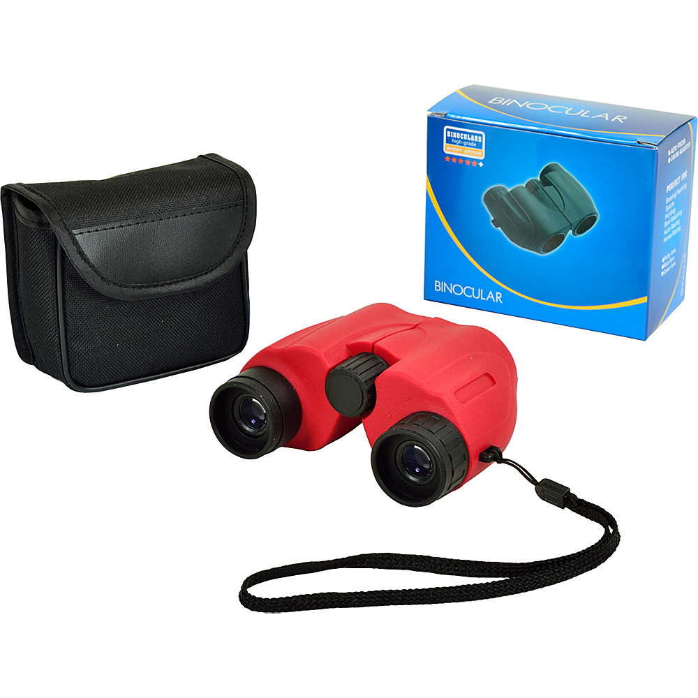 Picnic at Ascot Compact 6 x 22mm Binoculars,  Optics 140/1000 Red - Picnic at Ascot Binoculars, Telescopes & Optics - Technology, Binoculars, Telescopes & Optics