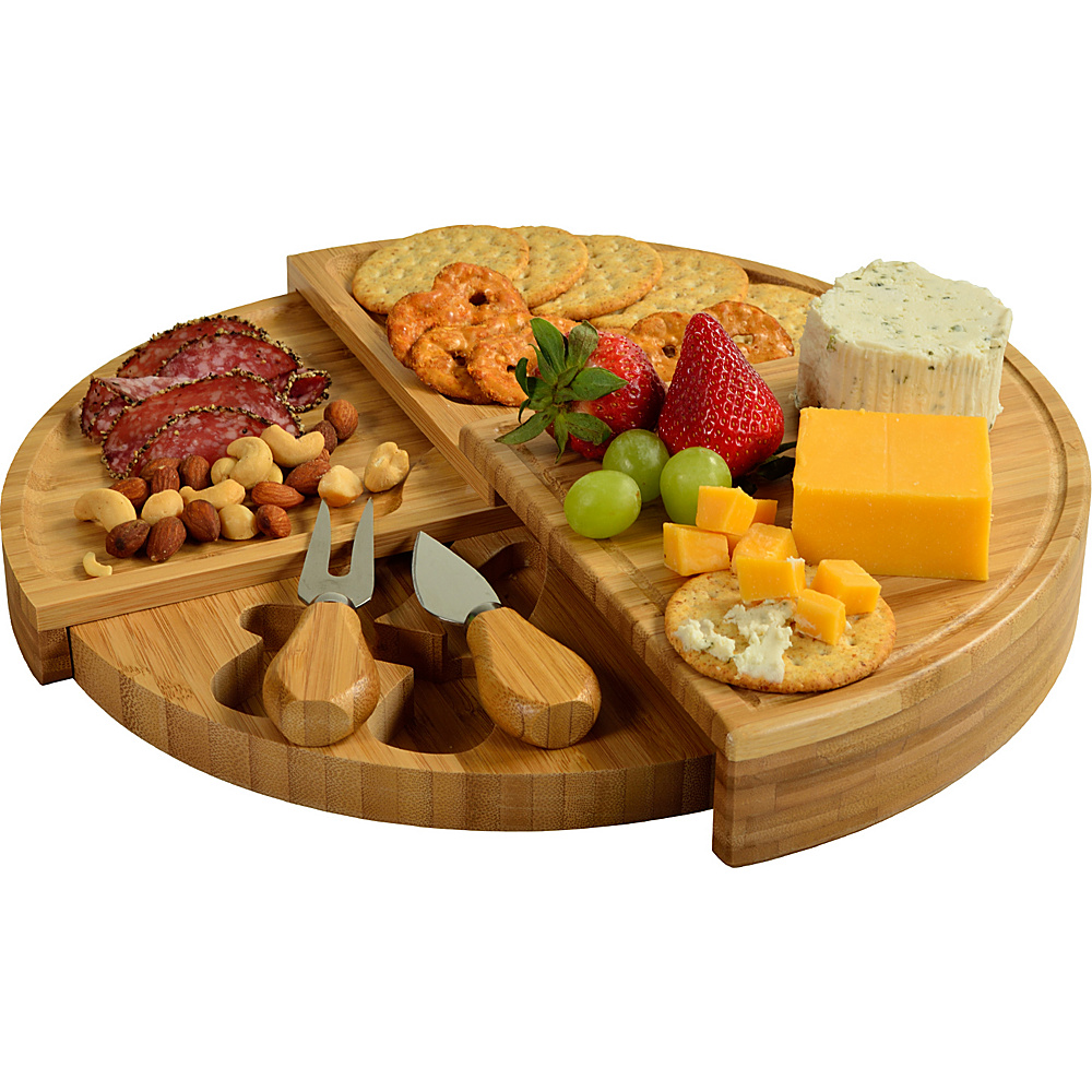 Picnic at Ascot Florence Transforming Bamboo Cheese Board Set Bamboo - Picnic at Ascot Outdoor Accessories - Outdoor, Outdoor Accessories