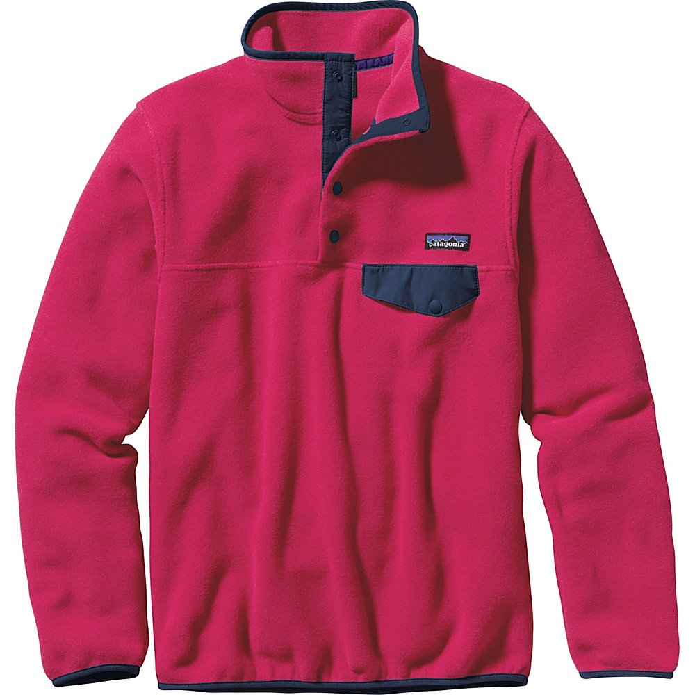 Patagonia Womens Lightweight Synch Snap-T Pullover S - Craft Pink - Patagonia Womens Apparel - Apparel & Footwear, Women's Apparel