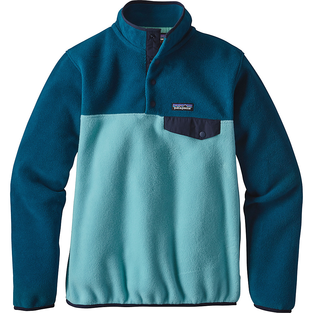 Patagonia Womens Lightweight Synch Snap-T Pullover M - Cuban Blue - Patagonia Womens Apparel - Apparel & Footwear, Women's Apparel