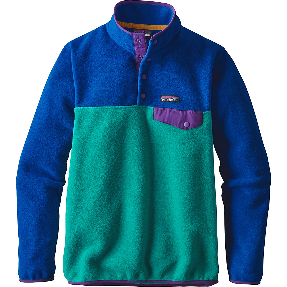 Patagonia Womens Lightweight Synch Snap-T Pullover L - True Teal - Patagonia Womens Apparel - Apparel & Footwear, Women's Apparel