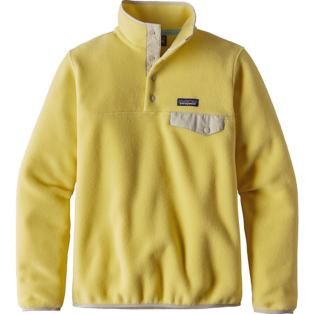 Patagonia Womens Lightweight Synch Snap-T Pullover L - Yoke Yellow - Patagonia Womens Apparel - Apparel & Footwear, Women's Apparel
