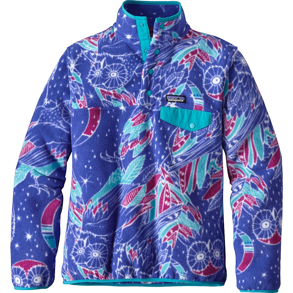 Patagonia Womens Lightweight Synch Snap-T Pullover L - Moon Owl: Harvest Moon Blue - Patagonia Womens Apparel - Apparel & Footwear, Women's Apparel