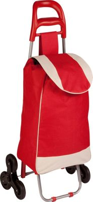 Honey-Can-Do Tri-Wheel Bag Cart Red - Honey-Can-Do Luggage Accessories